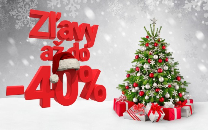 Vianočné zľavy až do -40%