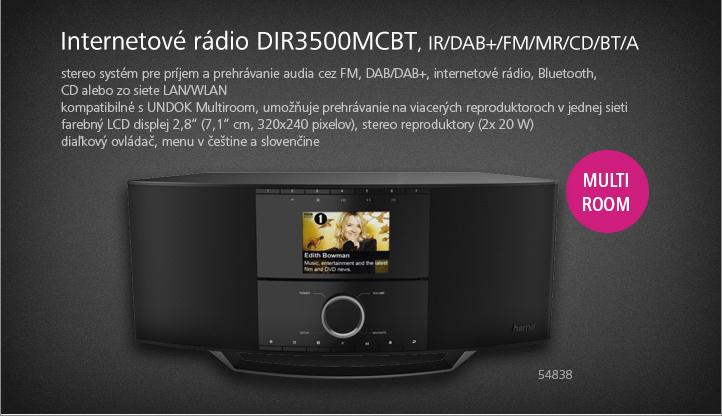 Hama internetové rádio DIR3500MCBT, IR/DAB+/FM/MR/CD/BT/A