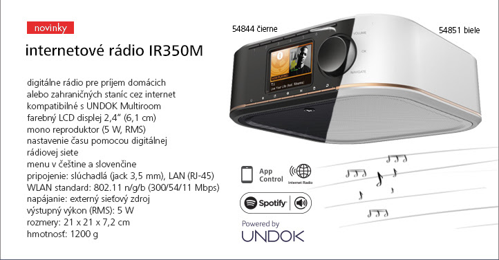 Internetové rádio IR350M