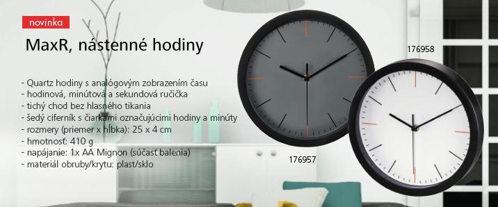 MaxR nástenné hodiny