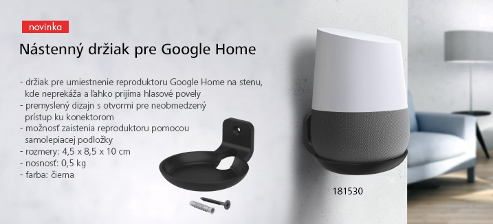 Nástenný držiak pre Google Home