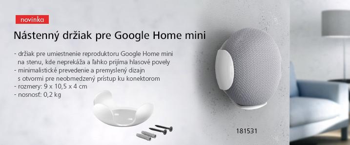Nástenný držiak pre Google Home mini