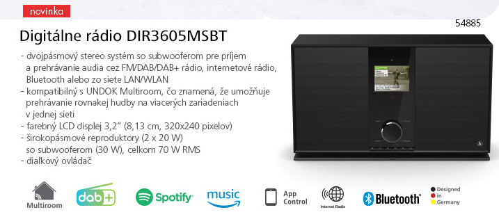 Digitálne rádio DIR3605MSBT