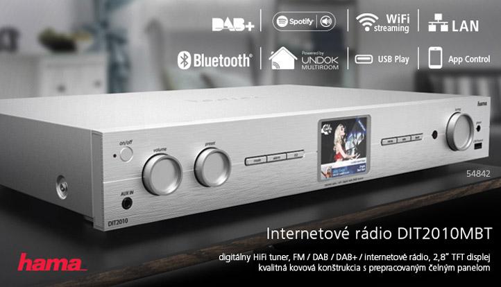 Hama internetové rádio DIT2010MBT, Digital Hi-Fi Tuner, FM/DAB/DAB+