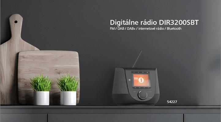 Hama digitálne rádio DIR3200SBT, FM/DAB/DAB+/internetové rádio, Bluetooth