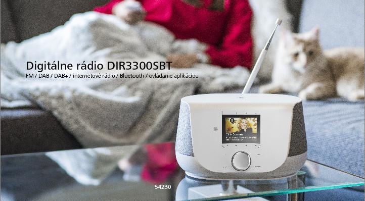 Hama digitálne rádio DIR3300SBT, FM/DAB/DAB+/internetové rádio