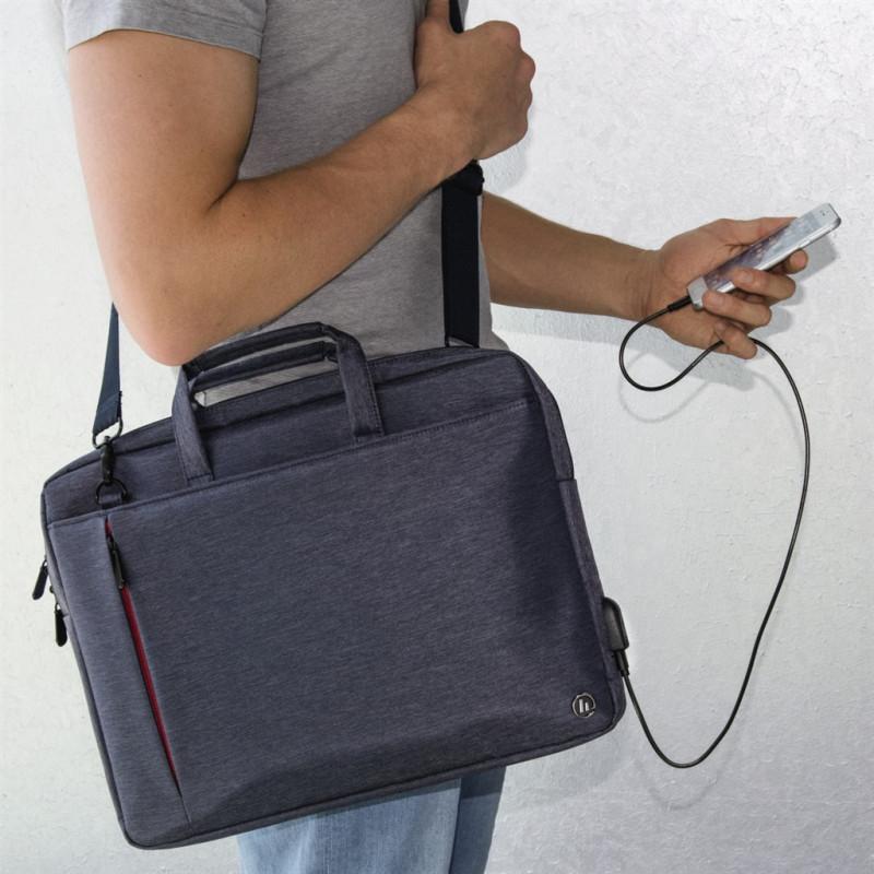 3c1210f64c Hama taška na notebook s integrovaným USB káblom Manchester