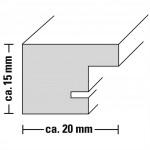 Hama rámček plastový PARIS, šedá, 20x30 cm