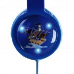 Hama detské slúchadlá Kids LED, uzavreté, modré