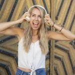 Hama Bluetooth slúchadlá Calypso, uzavreté, krémovo biela