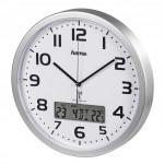 Hama Extra, nástenné hodiny riadené rádiovým signálom, s dátumom a teplotou