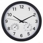 Hama Pure Plus, nástenné hodiny s teplomerom/vlhkomerom, 25 cm, tichý chod