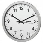 Hama CWA100, nástenné hodiny, strieborné