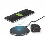 Hama set bezdrôtová nabíjačka FC10, Qi 10 W + rýchla sieťová nabíjačka QC 3.0