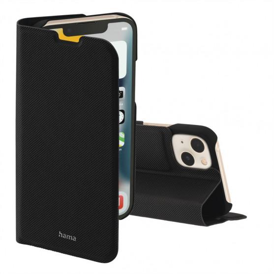 Hama Slim Pro, otváracie puzdro pre Apple iPhone 13, čierne