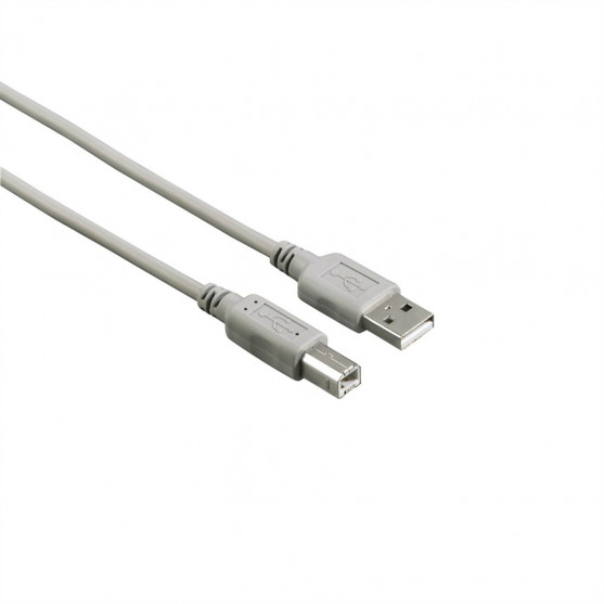 Hama USB 2.0 kábel typ A-B 1,5 m, nebalený