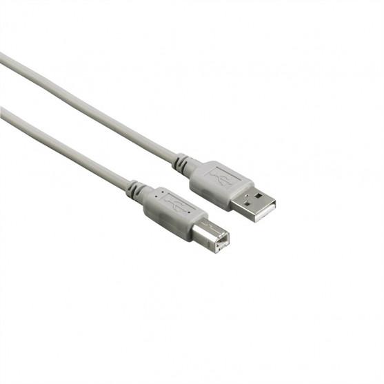 Hama USB 2.0 kábel typ A-B, 3 m, nebalený