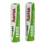 Hama akumulátor NiMH AAA (Micro-HR03) 1000 mAh, 2 ks