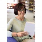 Filtral okuliare na čítanie, plastové, čierne/červené, +1,5 dpt